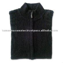 Acrylic Zip Knitted Men Cardigan Sweater