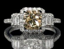4 cts. brown diamond ring dark champagne diamond ring