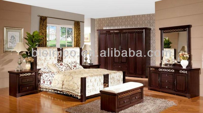 Bed Back Panel Designs : Vintage Design Panel Bed W Back Cushion,Classical Solid Wooden Beds ...