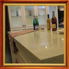 well polished high light quartz surface table top for villa kitchen design