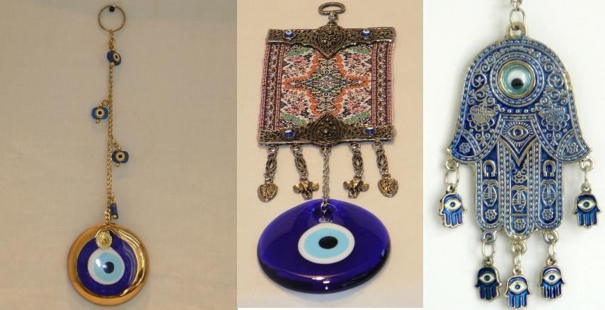 Decoración afortunada de cristal turca de la pared del encanto de Hamsa del ojo malvado