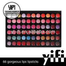 Cosmetic supplier!66 color makeup lip palette organic lip gloss