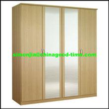 wardrobe with double mirror doors