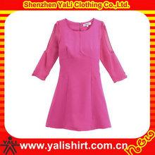 Classic custom casual dress designs fat ladies dresses for girls