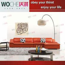 2012 hot selling models violino modern corner leather sofa,sofa webbing strap WQ6850