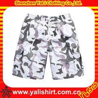 Mesh Fabric dot men's shiny shorts