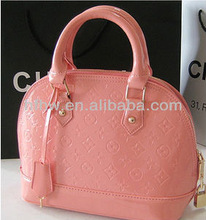 2013 new fashion candy-colored patent embossed handbag shoulder shell bag
