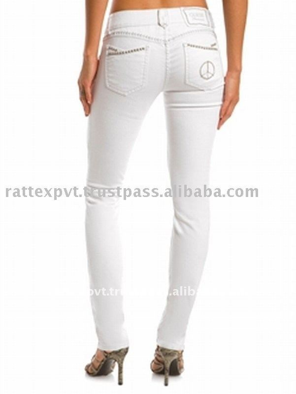 Women s cheap white jeans with low rise photo detailed about women s