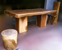 Natural Suar Wood Dining Set
