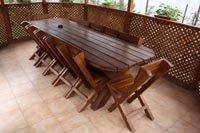 wooden table for garden