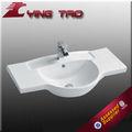 accesorios de baño de cerámica y madera lavabo pedestal de lavabo de baño