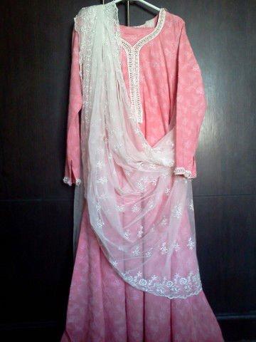 Tea Pink Embroidered Dress Pakistani Indian Shalwar Kameez