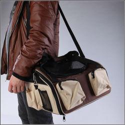 """16"""" Pet Car Seat Bag Portable Dog Crate Folding Carrier"""