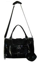 Cat/Dog Black Fashion Faux Crocodile Pet Carrier/Tote Bag For Pet