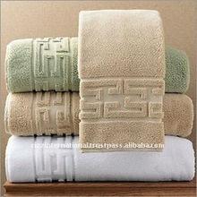 GREEK BORDER BATH TERRY TOWEL