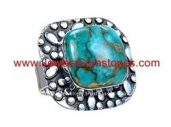 KRJ277271-0 silver bronze vein blue arizona turquoise jewelry