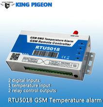 GSM SMS temperature logger,DS18B20 remote temperatuer logger RTU5018,Temperature monitotinh Accuracy:0.5,detect range:-55~+125 C