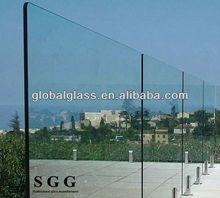 High quality frameless glass deck railing