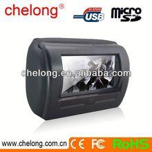 7'' Motorized slide shield Headrest 1 din 7 inch car dvd player