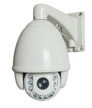 Intelligent long distance analogue cctv ptz camera high speed 360 degree rotation