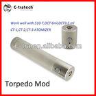 C-tra 2013 new e cigarette mod lavatube mod/machine mod/torpedo mod 18650