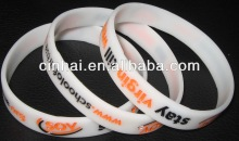 cheap sell customized engraved color filled Silicone Baller Strap