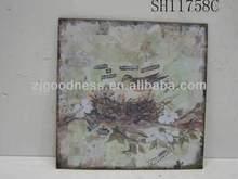 HOT SALE 9''x9'' ART WALL PLAQUE RUSTY GARDEN DECORATION