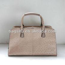 Guangzhou Baiyun Factory Ostrich Italian Europe Vintage Style Handbags for Women Shoulder PU Bags Fashion