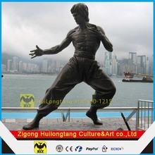 Fiberglass People Sculpture of Bruce Lee HK