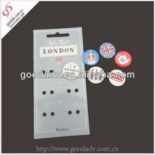 High Quality cheap metal Round Pin Flashing Name Badges and Button Brooches
