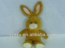 lovely soft plush rabbit toys/brown plush toy rabbit/rabbit skins