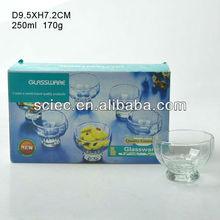 clear glass icecream bowl juice cup salad stylish bowl glassware