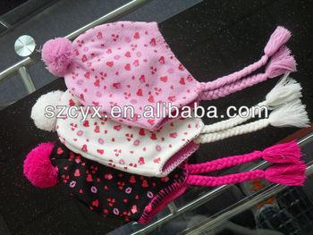 unique design fashion funning crochet hats caps in fleece