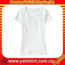 Popular embroider women plain tshirt