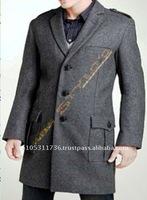 160's Cashmere & 100% Wool Men's Over Coat
