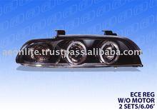 "Projector Headlight for BMW E39 95'~03' ""E11 E-MARK""(Black/Clear),Euro Type"