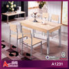 A1231 best price for 5 piece wooden dinning table set