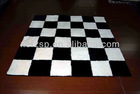100% polyester patchwork black and white carpet tiles