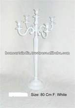 5 light Tall Candelabra in Aluminium available in many sizes to put on table or on the floor for home and wedding decor