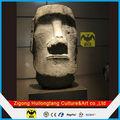 fibra de vidrio de isla de pascua estatua escultura de la cabeza