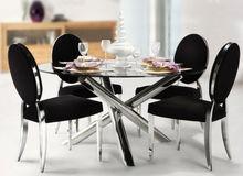 glass tables for dinner