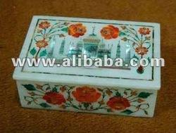 Marble Box with Taj Mahal