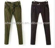 D91244S NEW WINTER WOMEN'S KHAKI CASUAL TROUSERS,WOMEN'S THIN PANTS