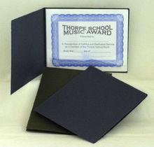 custom size certificate portfolio