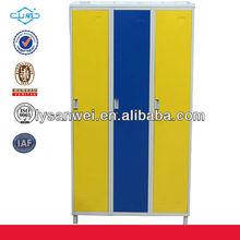 powder coating steel locker bedroom furniture with foot
