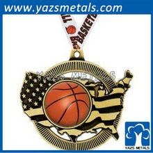 Custom high quality basketball insert medals