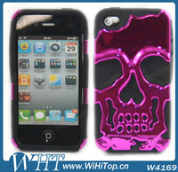 Two Piece Protective Case For iPhone 4 4S Hybrid Skin Cover