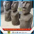 L'île de pâques fberglass moai sculpture statues