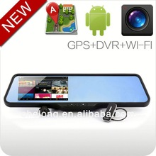 android 4.0 bluetooth GPS navigation car rearview mirror video registrators for car