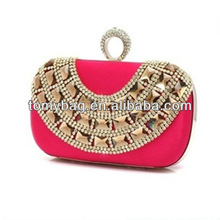 Hot selling one ring crystal evening bags